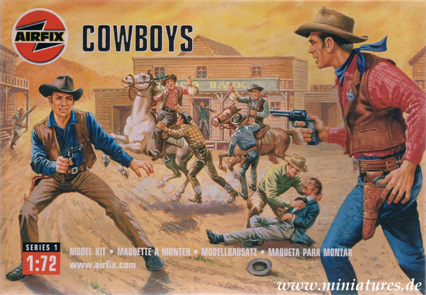 Cowboys, 1:76 Figuren Airfix 01707