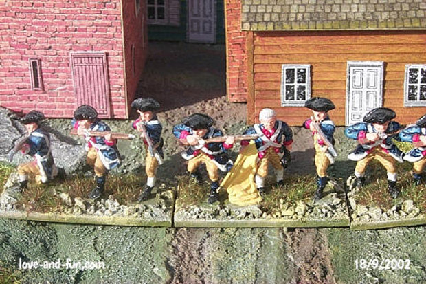 Fahnentraeger und Soldaten des 2. New Hampshire Regiment, Washington's Continental Army, 1:76 Figuren Airfix 01739