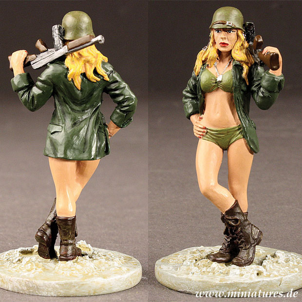 Babes in Arms: Army Babe »Loaded for Bare«, 1:30 Figuren Historic Sales BIA001