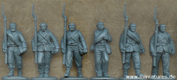 American Civil War Infantry advancing, 1:60 Perry Miniatures ACW1