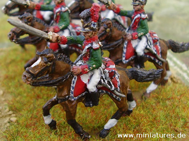 5. Chevaulegers-Regiment Leiningen, Bayern 1812, 1:72 Figuren Hinton Hunt BB33