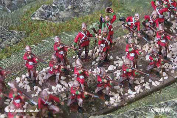 24th (2nd Warwickshire) Regiment of Foot, 1:72 Figuren ESCI P-212