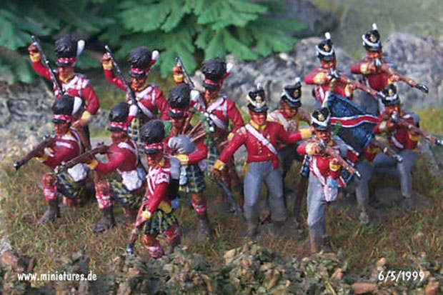 92nd (Gordon) Highland Regiment, 1:72 Figuren ESCI P-215