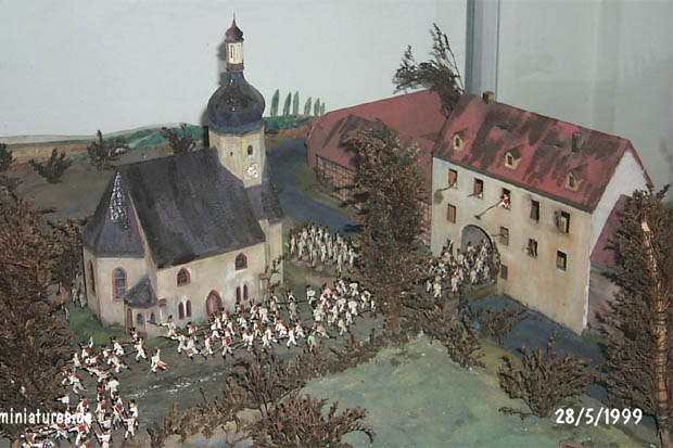 Markkleeberg gatehouse and church diorama