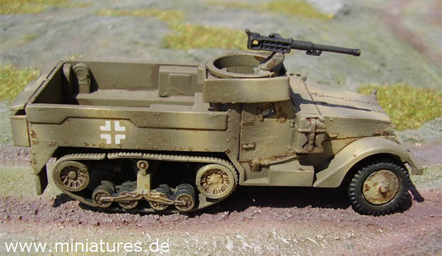 Matchbox M16 Half-Track converted to the M5A1 Half-Track configuration