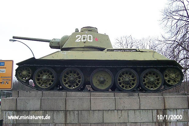 T-34 turret number 200 seen from the left
