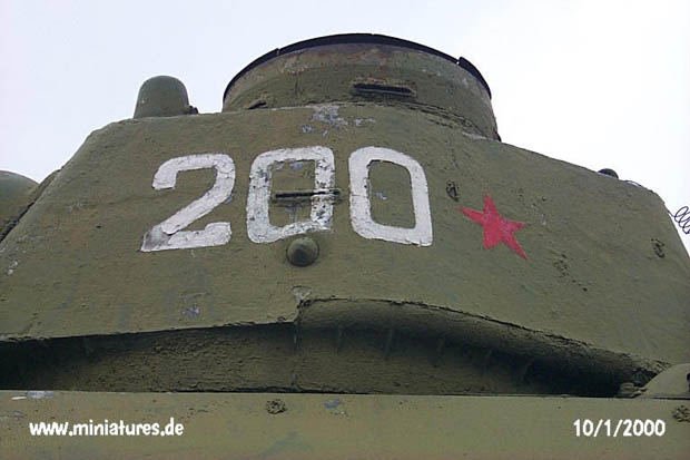 Close-up of turret number 200