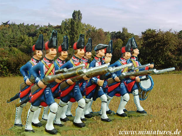 Französisches Grenadier-Bataillon der Grenadiers de France, 40 mm Zinnfiguren Prince August