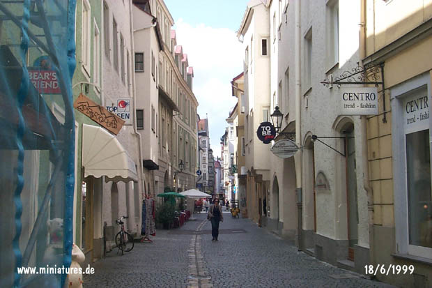 Street in the historic part of Regensburg