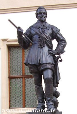 Wallenstein-Statue in Prag