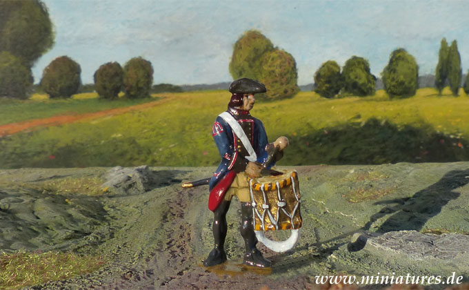 Infanterie-Regiment von Gilsa (Nr. 3), 40 mm Figuren Prince August