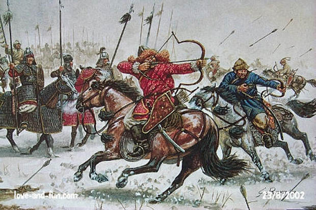 Italeri's Golden Horde Mongols may be used to recreate the mounted elements of DBA Armee 154 – Mongolen