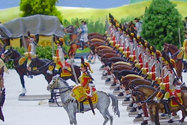 Grenadiere vom Dragoner-Regiment Althann, 30 mm Zinnfiguren