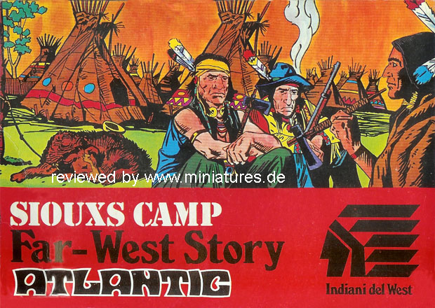 Sioux Camp, 1:72 Figuren Atlantic 1112