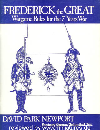 Frederick the Great – Wargame Rules for the 7 Years War by David Park Newport