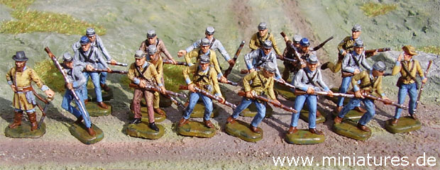 Confederate infantry platoon for The Sword and the Flame (TSATF)